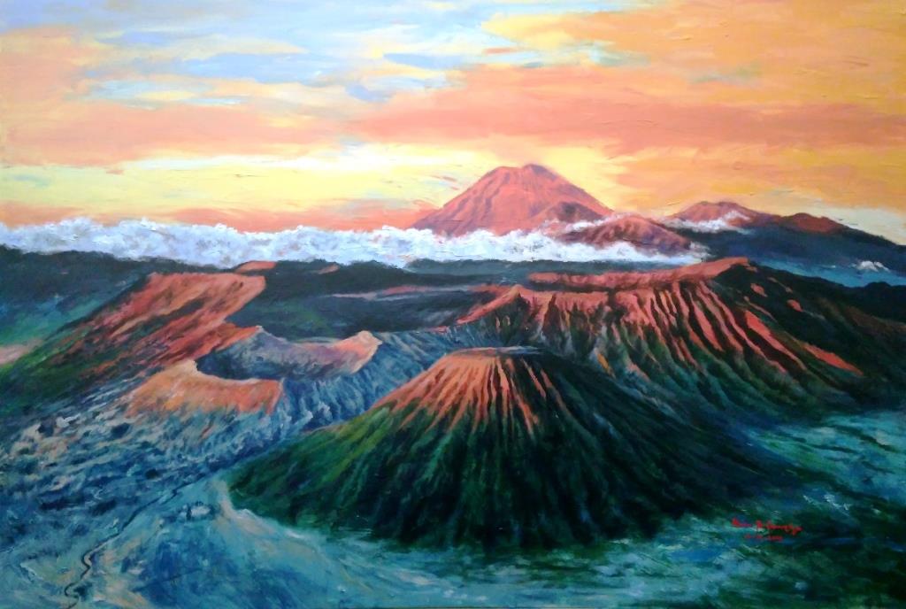 Lukisan Alam Di Gunung Bromo